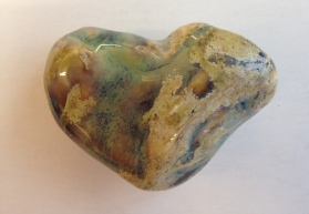 Heart glazed from slip cast
