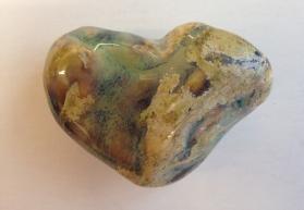 Heart glazed from slip cast